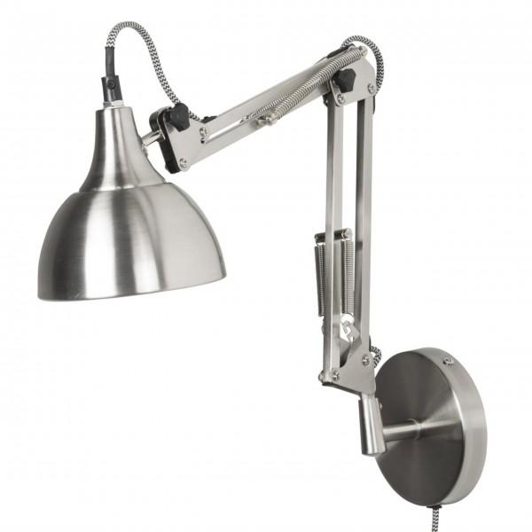 "Ib Laursen Wandlampe ""Architekt"" (Silber)"