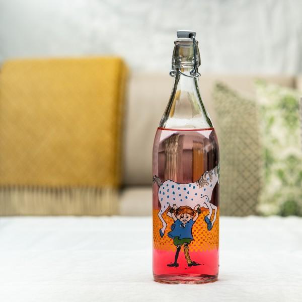 """Pippi Langstrumpf-Flasche """"Pippi und Ihr Pferd"""""""