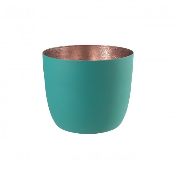 "Gift Company Windlicht ""Madras"" M (Dynasty green/rosè)"