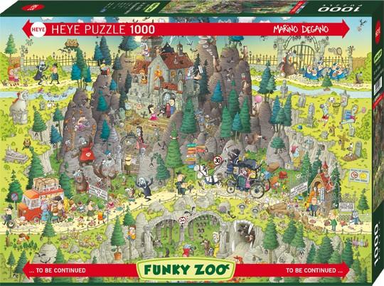 Puzzle Transylvanian Habitat FUNKY ZOO, MARINO DEGANO Standard 1000 Pieces