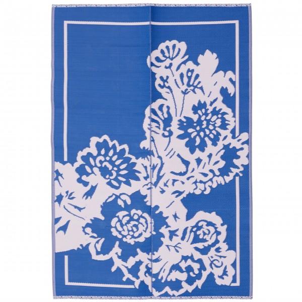 rice Bodenläufer mit Blumenmuster (Blau/Pink)