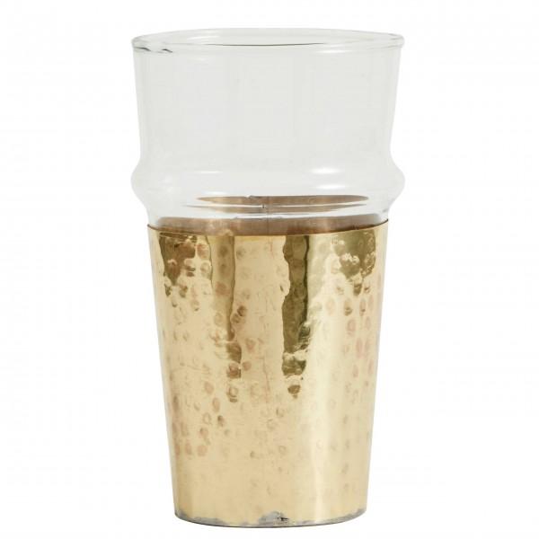 Coole Idee: 2 in 1 Trinkglas mit goldenem Becher von Nordal