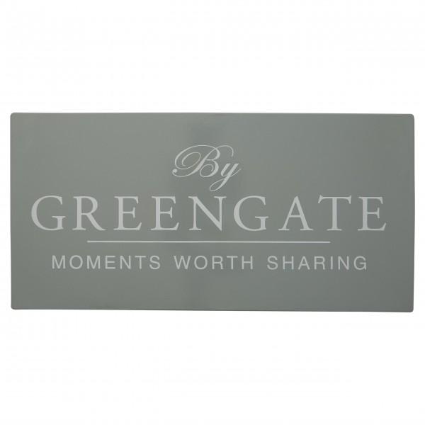 Wunderschönes Metallschild aus der neuen GreenGate Kollektion