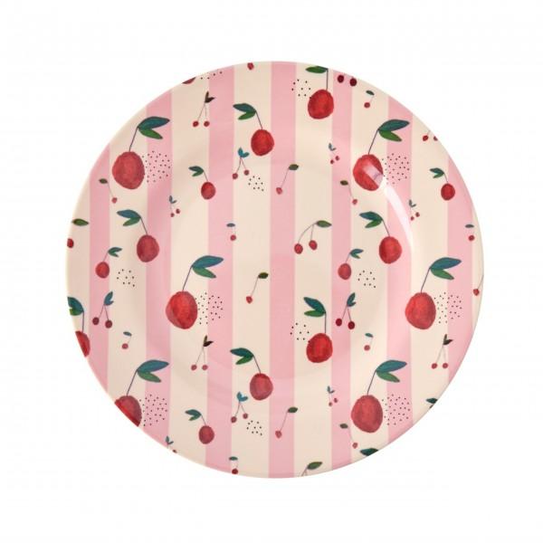 """Rice Melamin Teller """"Cherry"""" (Pink)"""