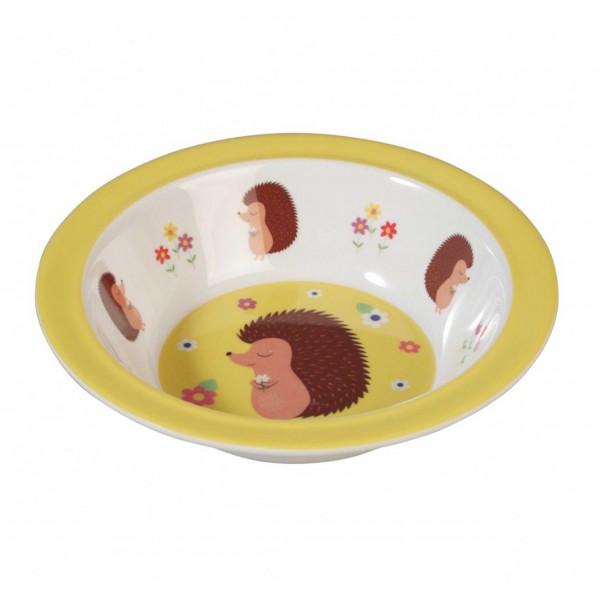 "Süße Kinderschale aus Melamin mit ""Honey the Hedgehog"""