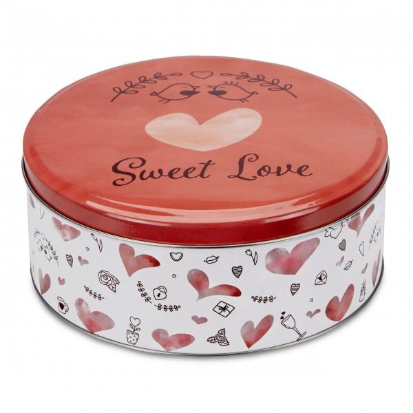 """Runde Gebäckdose """"Sweet Love"""" - Groß (Bunt) von Städter"""