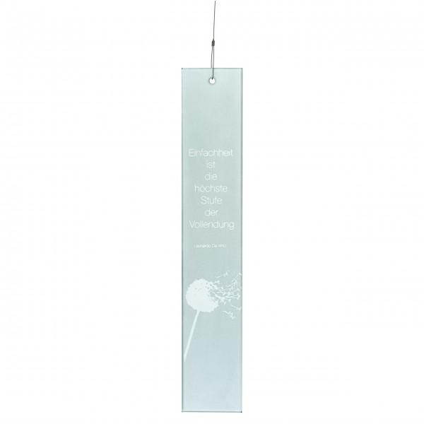 """Fenster - Deko zum Aufhängen """"Einfachheit"""" - Glas von räder Design"""