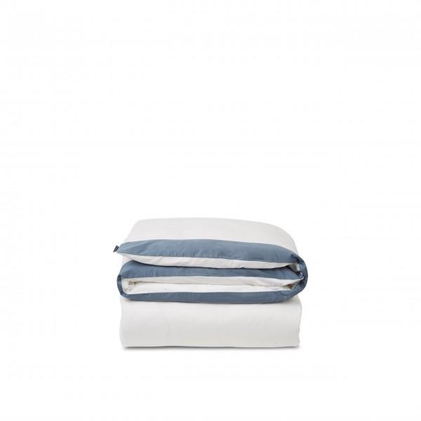 """Lexington Bettwäsche Bettdeckenbezug - Baumwoll-Satin """"Streifen"""" - 135x200 cm (Blau/Weiß)"""