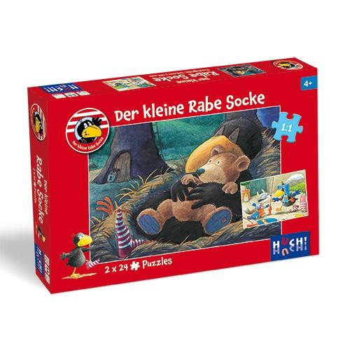 Kinderspiel Der kleine Rabe Socke - Puzzle 2x24 T. von HUCH!