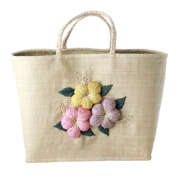 """Rice Einkaufstasche """"Flower"""" (Braun)"""