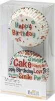 """Birkmann Muffin Papierförmchen """"Happy Birthday"""" (Weiß)"""