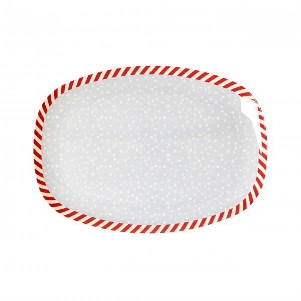 Schöne Servierplatte mit Weihnachtsstimmung: von Rice