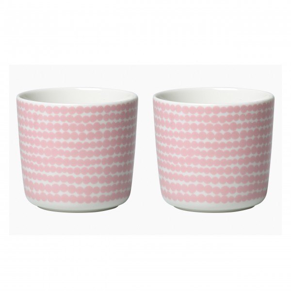 """Marimekko Kaffeetasse im 2er Set """"Oiva Siirtolapuutarha"""" (Pink / Weiß)"""