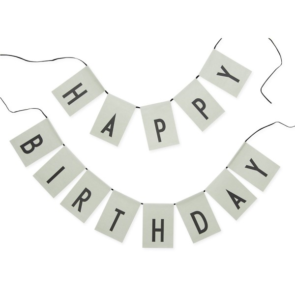 "DESIGN LETTERS Girlande ""Happy birthday"" (Grün)"