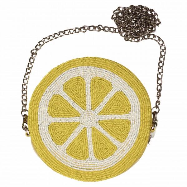 Aufgestickte Perlen: Handtasche im Zitronendesign von GreenGate