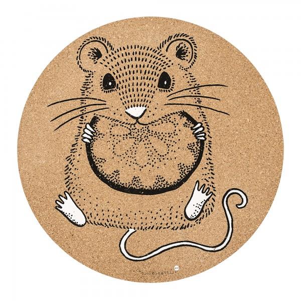"""Bloomingville Platzset aus Kork """"Maus"""" (Braun)"""