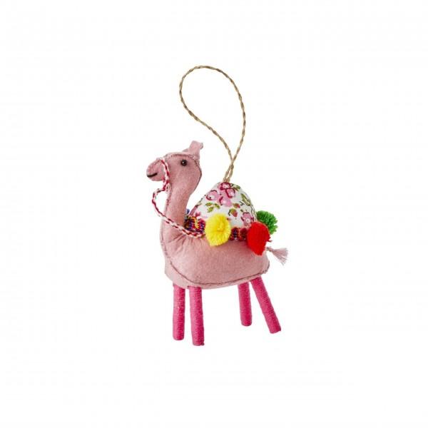 """Rice Weihnachtsdeko """"Kamel"""" (Pink)"""