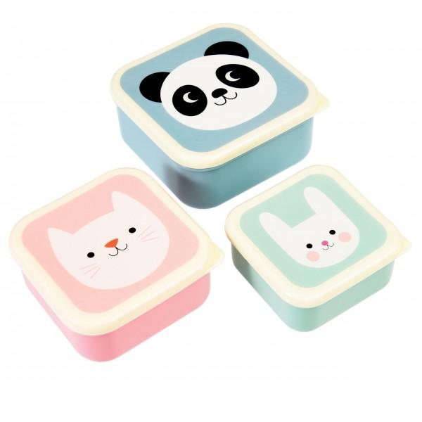 Süße Retro-Snakcdosen mit Panda und seinen Freunden