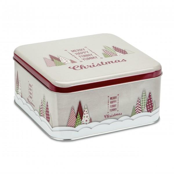 """Quadratische Gebäckdose """"Yummy Christmas"""" - Groß (Bunt) von Städter"""