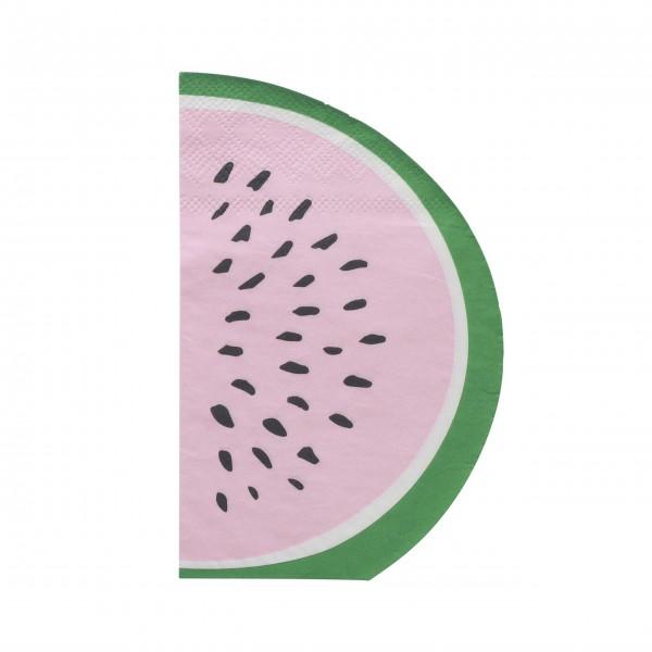 """rice Papierservietten """"Watermelon"""" - 20 Stk. (Weiß)"""