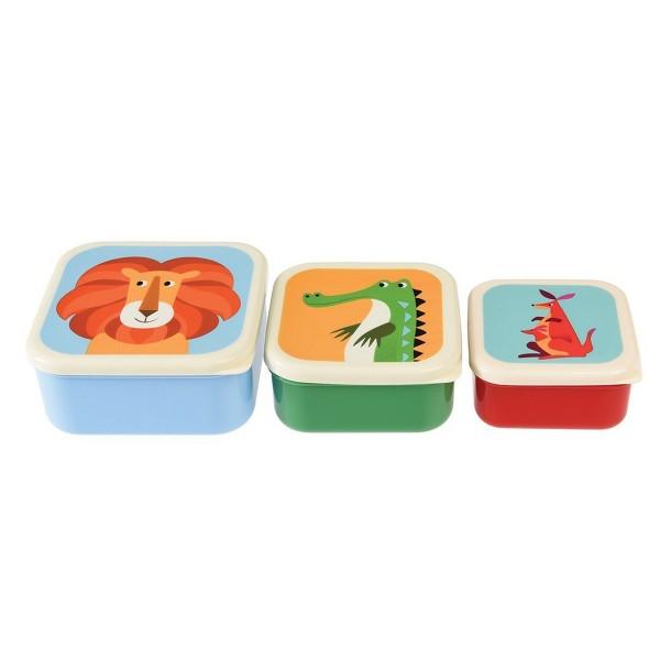 Ein lustiges Trio: Brotzeitdosen im witzigen Tierdesign