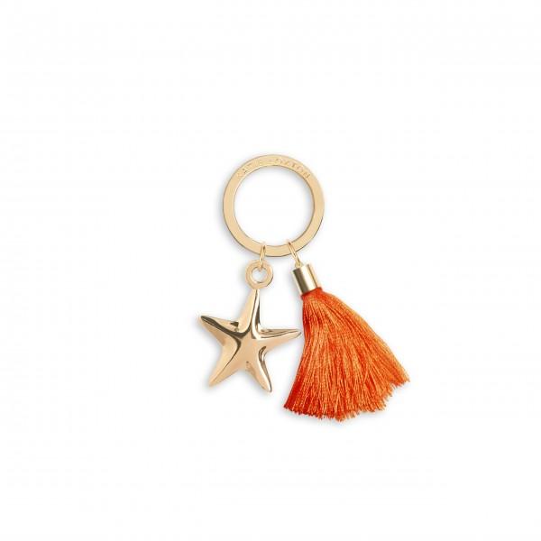 """Schlüsselanhänger """"Seestern"""" (Orange) von KATIE LOXTON"""