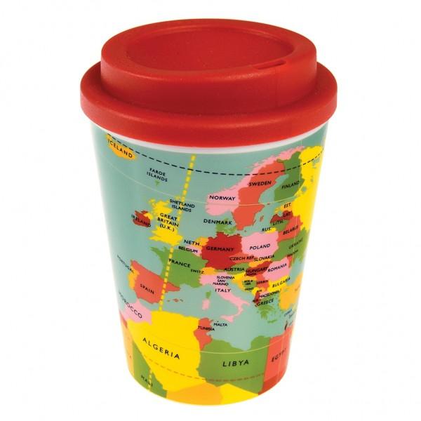"""Kaffeebecher für Unterwegs """"World Map"""" von Rex LONDON"""