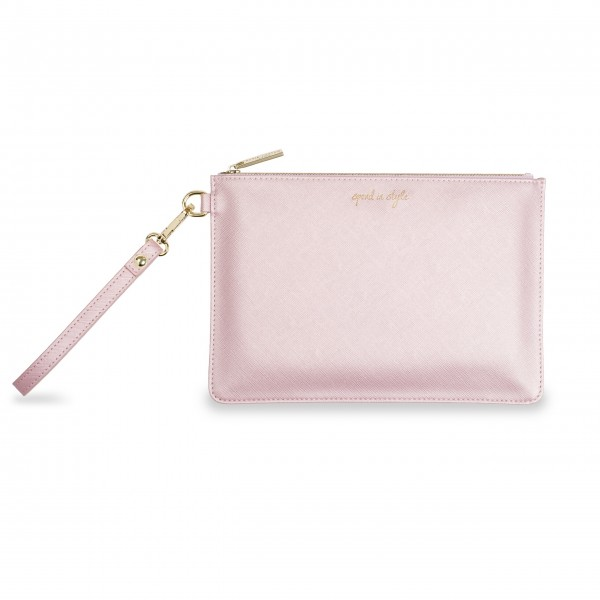 "Pouch ""Spend in Style"" (Rosa) von KATIE LOXTON"
