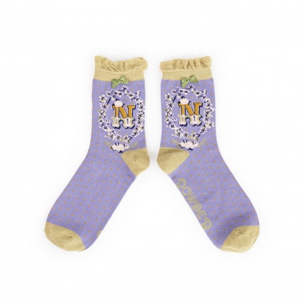 "Powder Damen Socken ""A-Z"" - Buchstabe N"