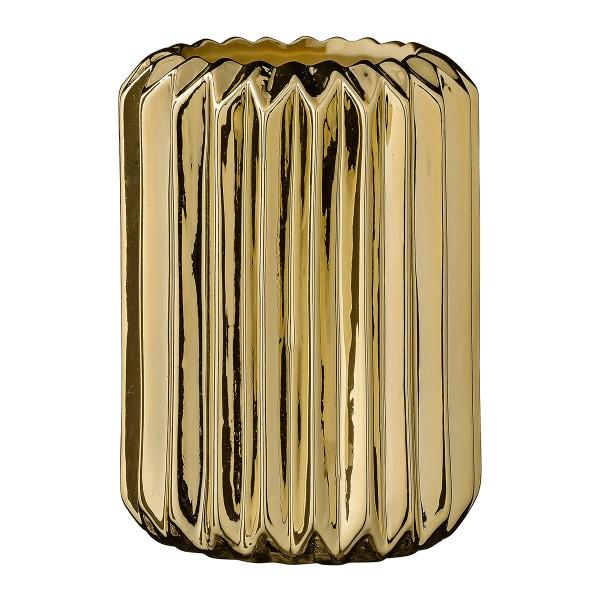 """Bloomingville Vase """"Flute"""" (Gold)"""