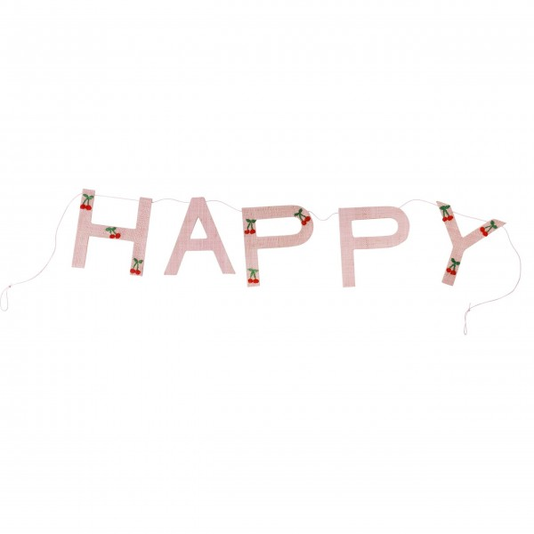 "Rice Girlande ""HAPPY-Cherry"" (Pink)"