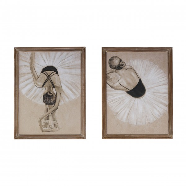 "Bilder im 2er-Set ""Ballerina"" von Chic Antique"