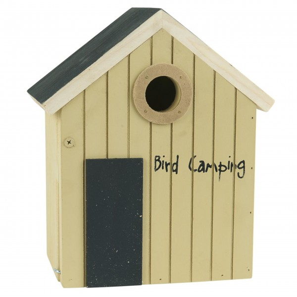 """Ib Laursen Vogelhaus """"Bird Camping"""" (Creme)"""