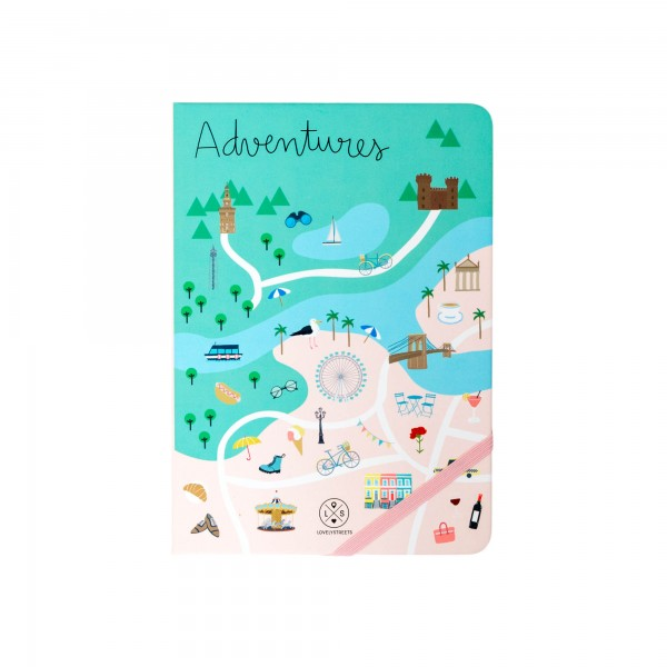 "Notizbuch ""Lovely Streets - Adventures"" von mr. wonderful*"