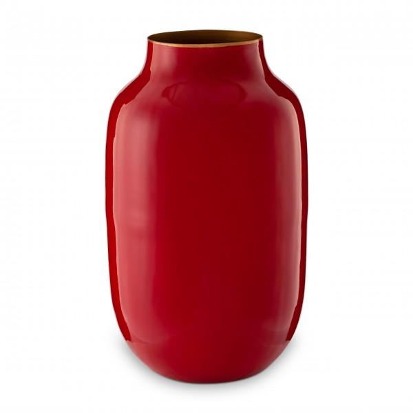 """Pip Studio Ovale Vase aus Metall """"Blushing Birds"""" (Rot)"""