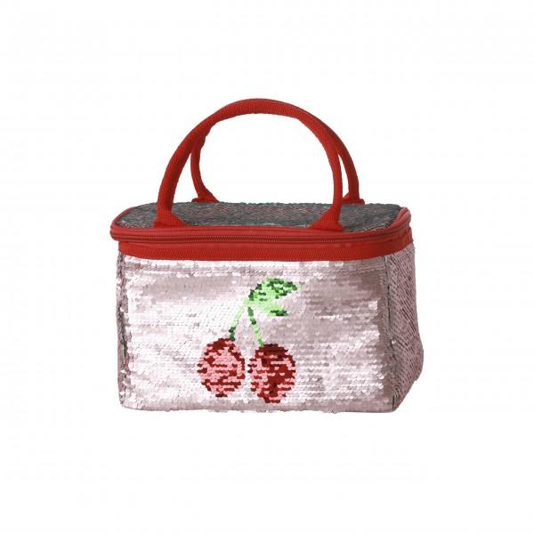 """Rice Kühltasche """"Cherry"""" - 4 L (Blau/Pink)"""