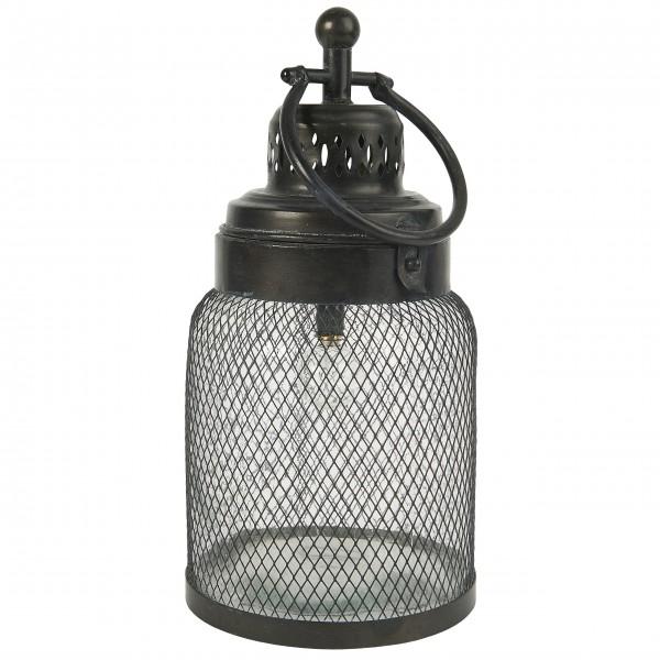Ib Laursen LED-Laterne mit Draht um das Glas