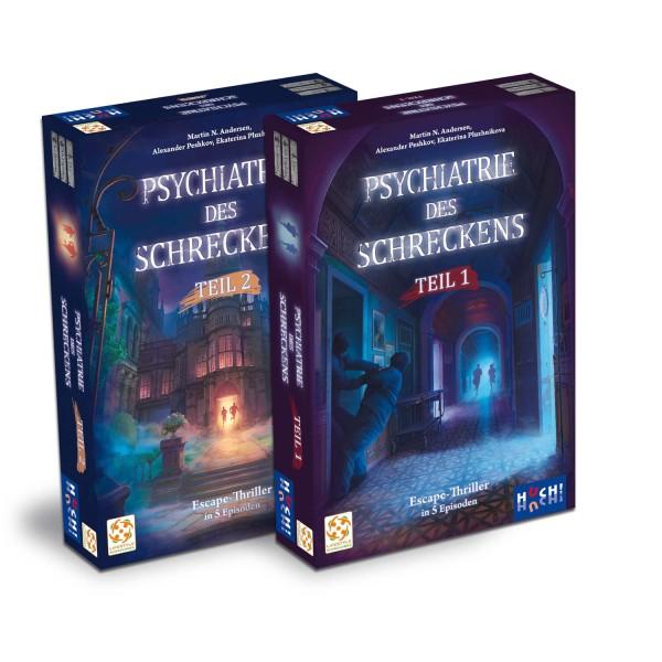 Gesellschaftsspiel Psychiatrie des Schreckens - Teil 1 + 2 im Sammelschuber von HUCH!