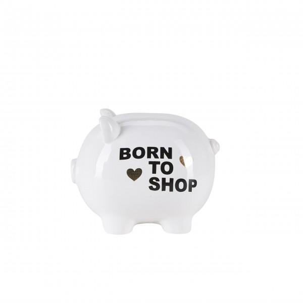 """Sparschwein """"Born to shop"""" von Bahne"""