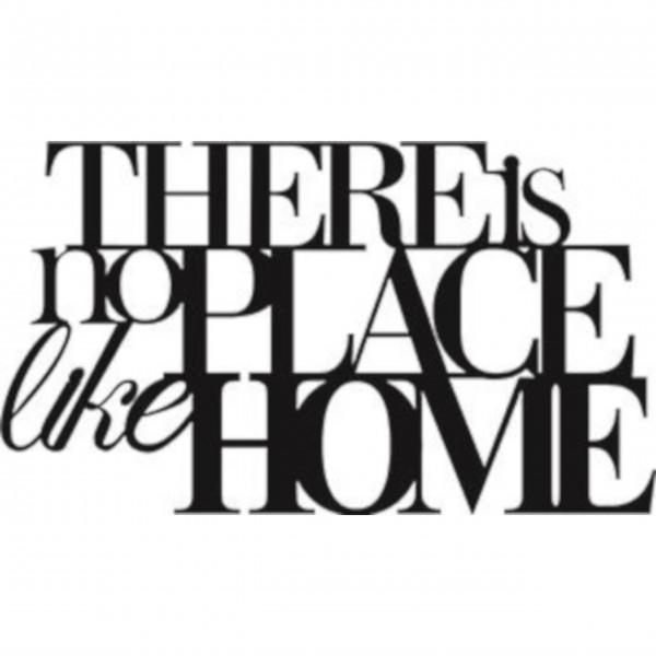 """Wandtattoo """"There is no place like home"""" schwarz von räder Design"""