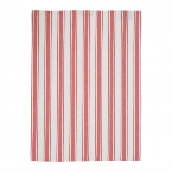 Lexington gestreifte Tischdecke 150x250cm (Rot / Weiß)