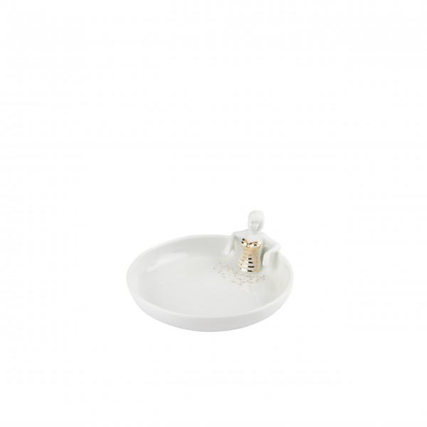 """Schale - Schmuckschale """"Schwimmbad"""" - Porzellan (Weiß/Gold) von räder Design"""
