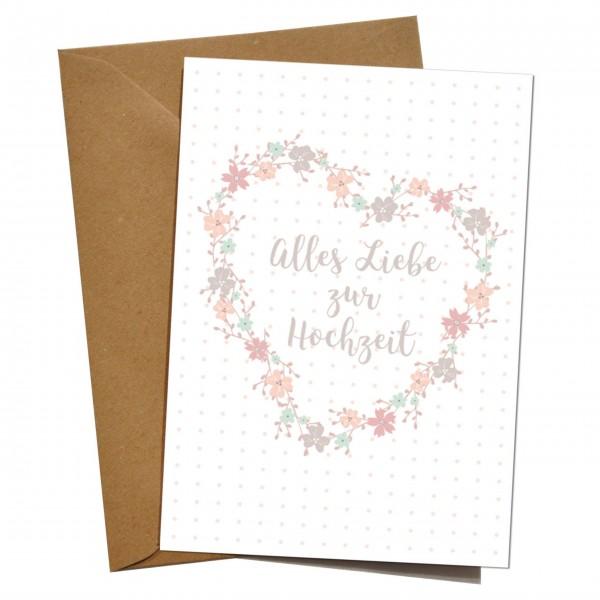 """mimie&joe """"Alles Liebe zur Hochzeit"""" - Grußkarte"""
