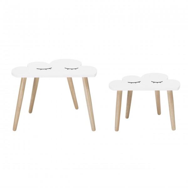 """Bloomingville Tisch """"Wolke"""" 2er Set (Weiß)"""