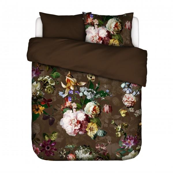"""Essenza Bettwäsche """"Fleur"""" - 155x220 (Chocolate)"""
