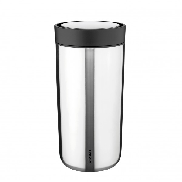 "Stelton To-Go Becher ""Click"" - 0,4L (Silber)"