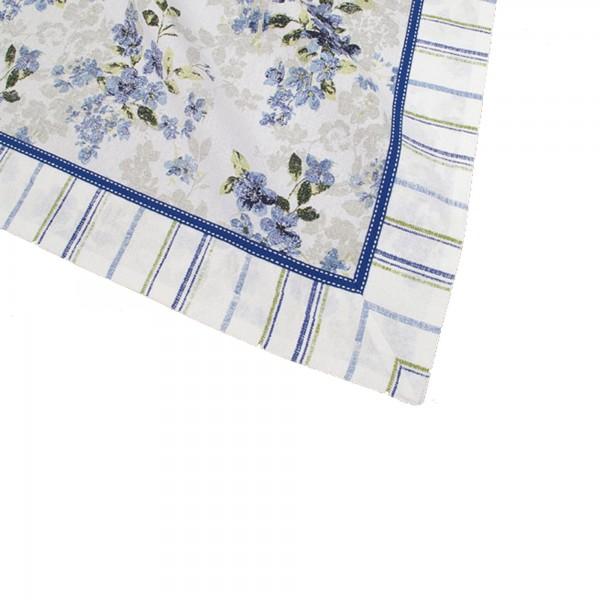 "Country Home Style Tischdecke ""Iris"" (blau/weiß) 70x70cm"