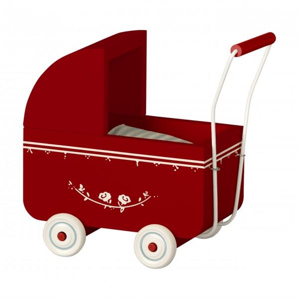 Maileg Holz-Kinderwagen für Micro (Rot)