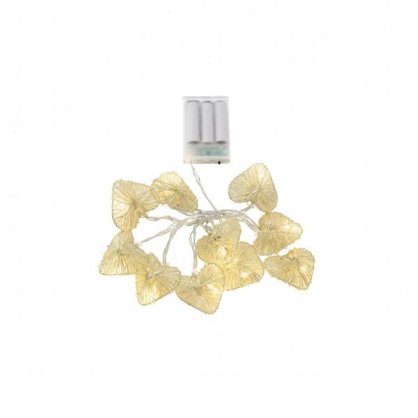 """Lichterkette """"Drahtherz"""" - (Gold) von Gift Company"""