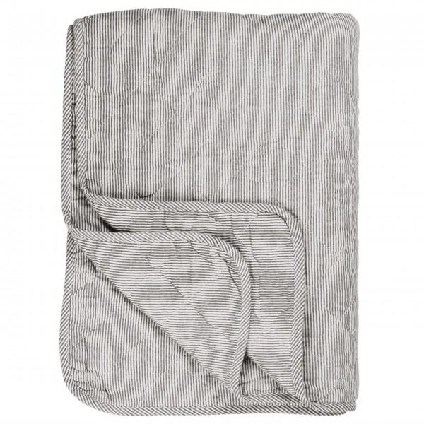 """Ib Laursen Quilt """"Streifen"""" (Weiß/Grau)"""
